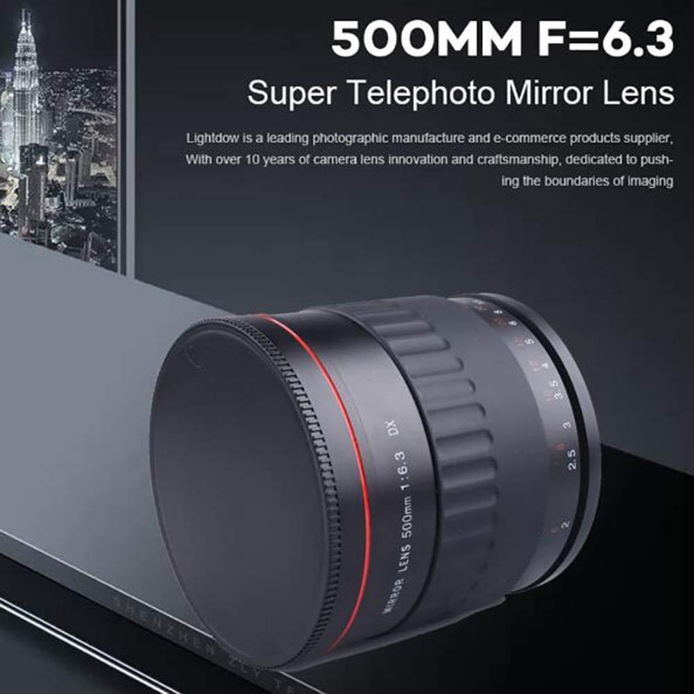 m 500Mm F6.3 Súper Teleobjetivo Cámara Manual Enfoque Espejo Lente ...