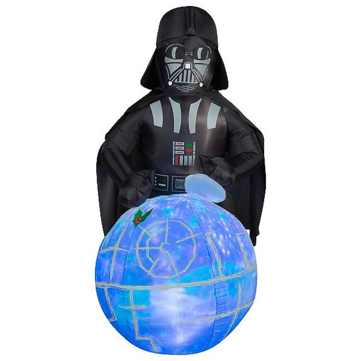 Christmas Inflatable Star Wars Darth Vader w/ Projection Death Star That Plays The Imperial March