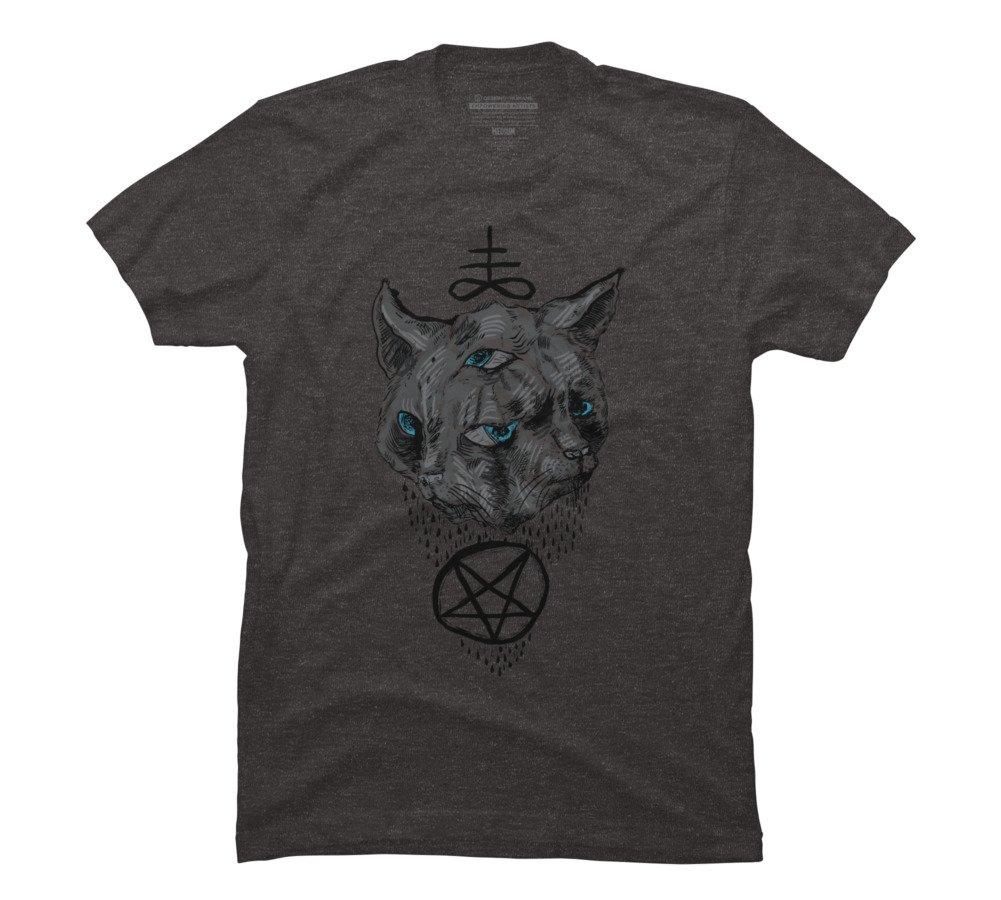 Janus Satan Cat Graphic T Shirt 2358
