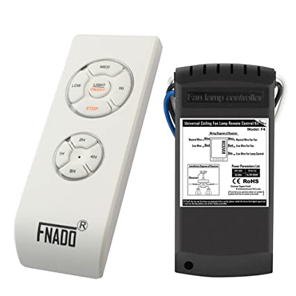 FNADO F4 Ceiling fan remote control kit- learning code Timing ... on