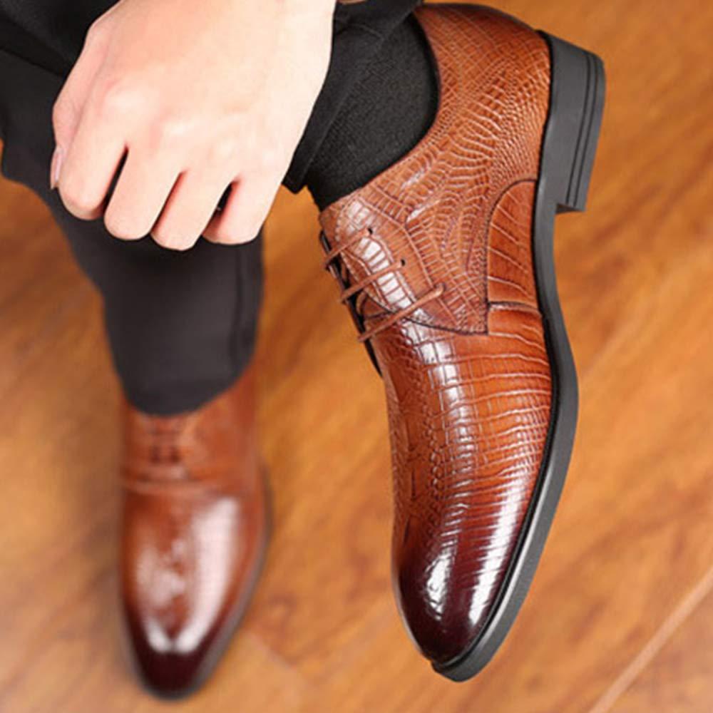 Snfgoij Herren Kleid Schuhe Braun Formale Geschäft Geschäft Geschäft Wies Mode Schnürschuhe Mode Herbst Winter Kleid Schuhe Leder Rindsleder Wies 728326