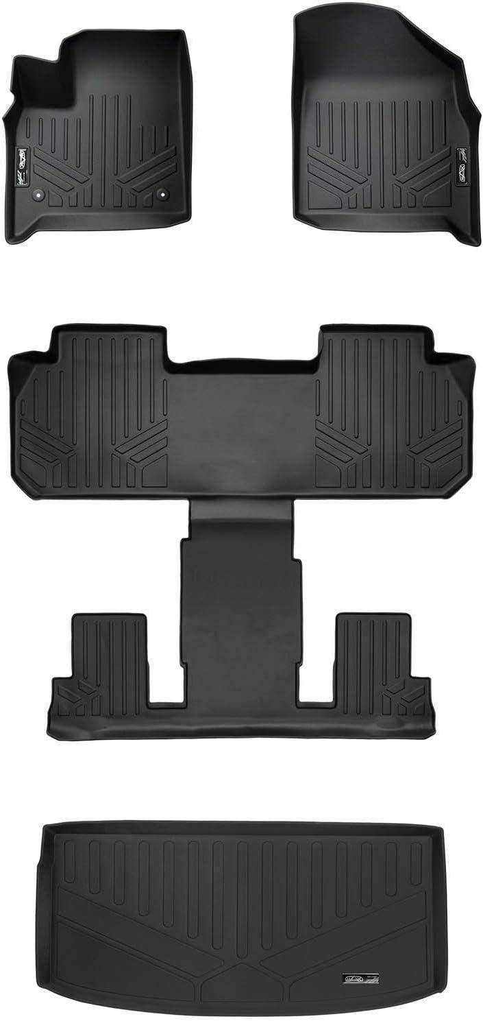 SMARTLINER Floor Mats 2 Rows and Cargo Liner Black for 2018-2019 GMC Terrain
