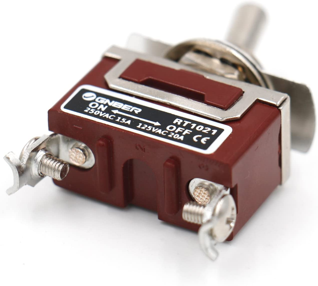 heschen Metall Toggle Switch SPST ON//OFF 2/Position Pflege 15/A 250/VAC CE