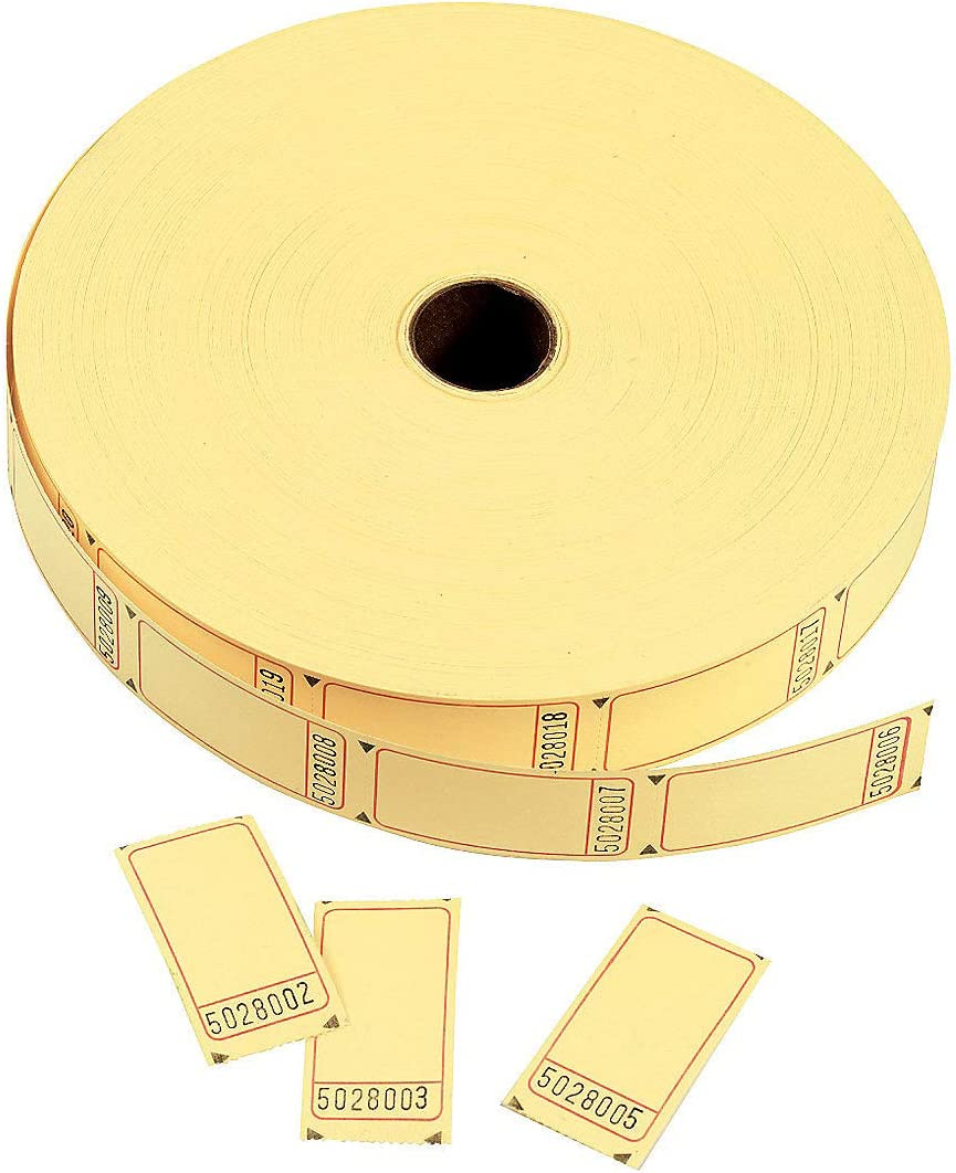 Yellow Blank Single Roll Tickets Entertainment Admission Tickets /& Wristbands Fun Express 1 Piece Party Supplies