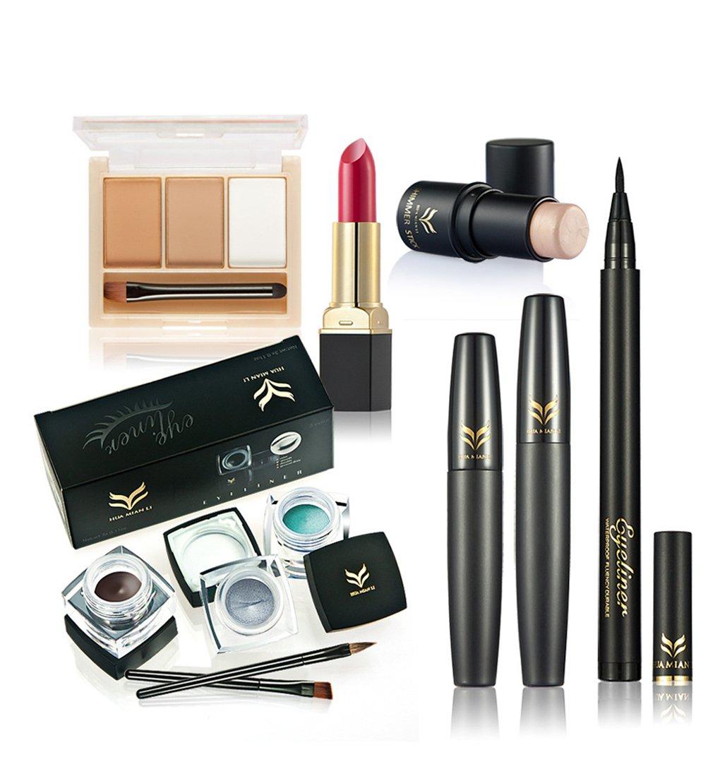FantasyDay® 7Pcs Kit de Maquillage Set de Maquillage Palette de Maquillage Mallette de Maquillage Beauty Coffret Fêtes Ensemble de Maquillage Cosmetic Kit Ombre à Paupières #5