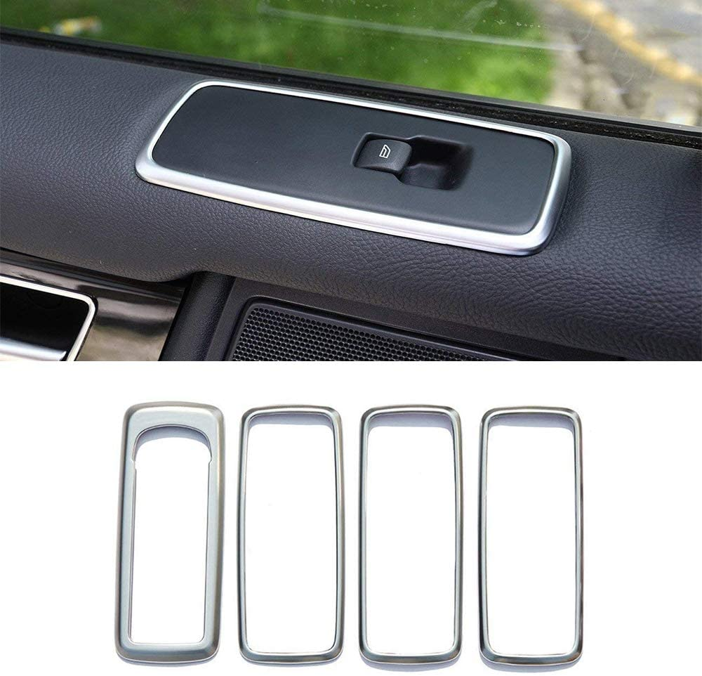 Inner Car Door Window Lift Switch Button Trim Cover For Land Rover Discovery 4 LR4 2009-2016 Range Rover Sport 2010-2013 (4Pcs)
