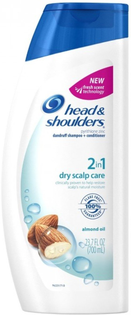 Head & Shoulders 2 In 1 Dry Scalp Care With Almond Oil Shampoo + Conditioner, 23.70 oz (Pack of 12) by Head & Shoulders (Image #1)