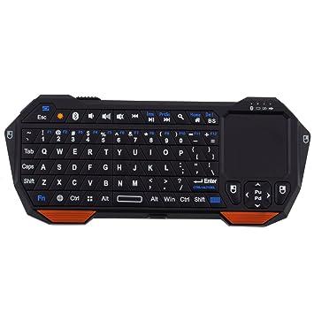 Mini Touchpad inalámbrico del ratón del Teclado de Bluetooth 3.0 para Windows para la batería de Litio Recargable incorporada de iOS iOS: Amazon.es: ...
