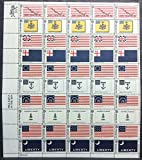 Historic Flag Series Sheet of 50 x 6 Cent US Postage Stamps Scott 1345-54