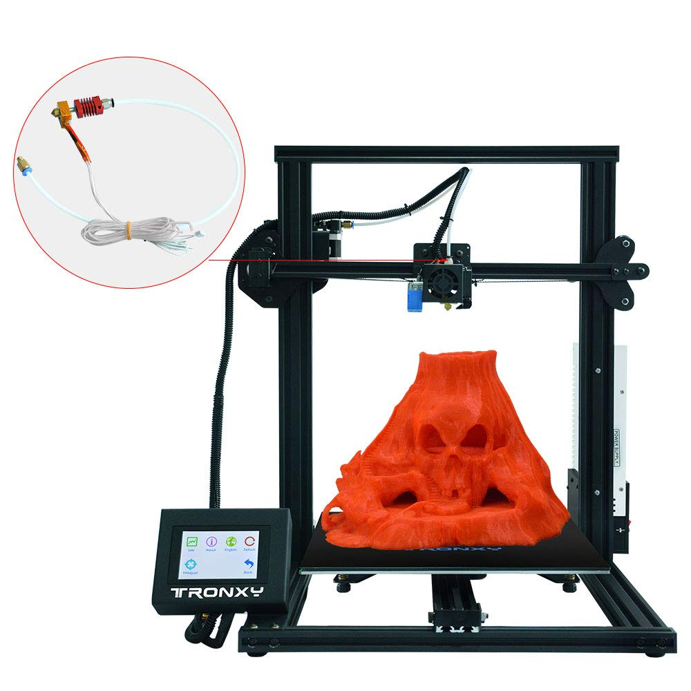 0.4mm Nozzle,Bowden Extruder kit 1.75mm TRONXY Original Extruder Assembled MK8 Hotend Kit for 3D Printer with Aluminum Heating Block