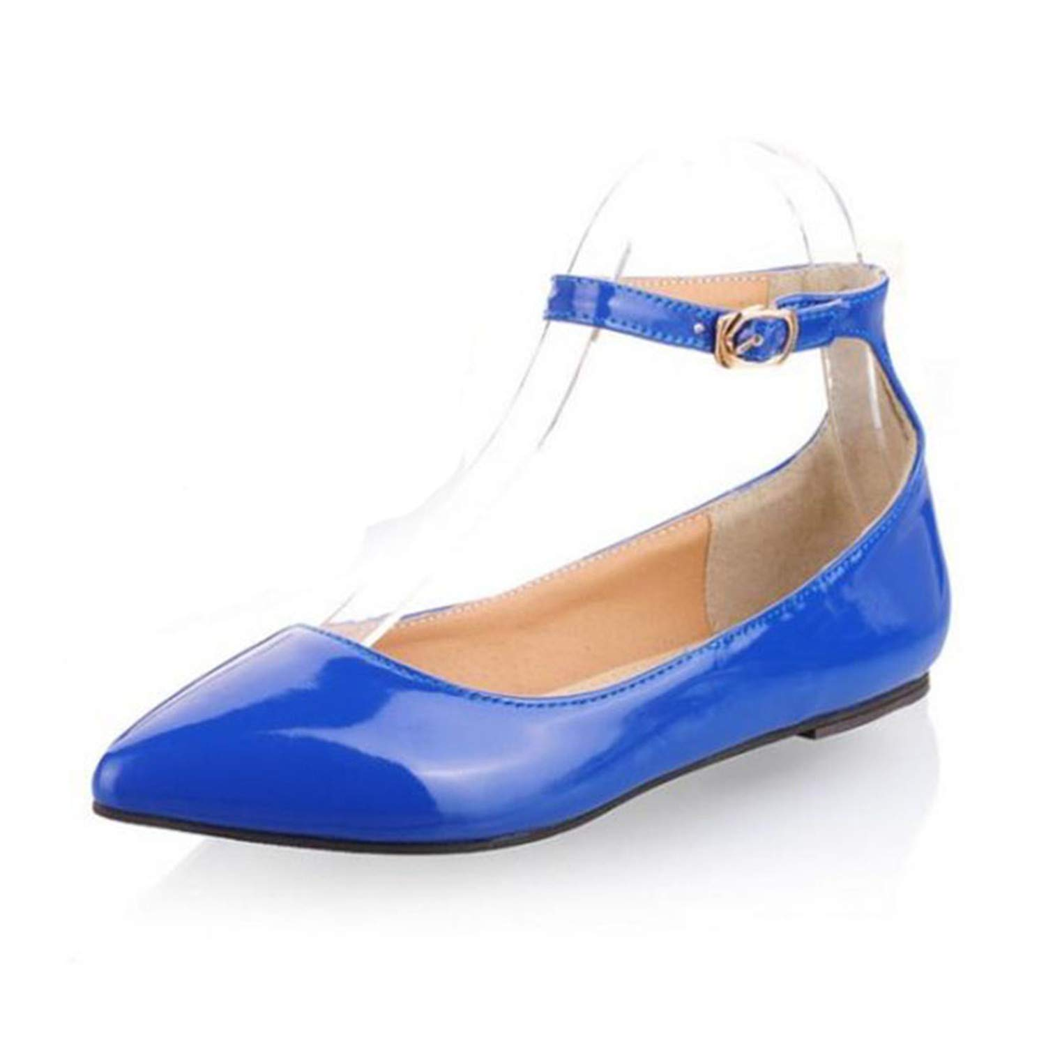 746b2a2939e5 Missrooney 6 Colors Size 30-49 Pointed Toe Candy Color Flats Shoes Women Ankle  Strap Buckle Sexy Flat Heels Shoes Daily Footwear  Amazon.ca  Shoes   ...