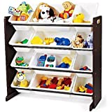 Tot Tutors Kids' Toy Organizer With Storage Bins, Espresso