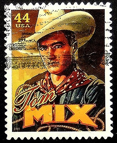 Tom Mix Actor USA -Framed Postage Stamp Art 19564