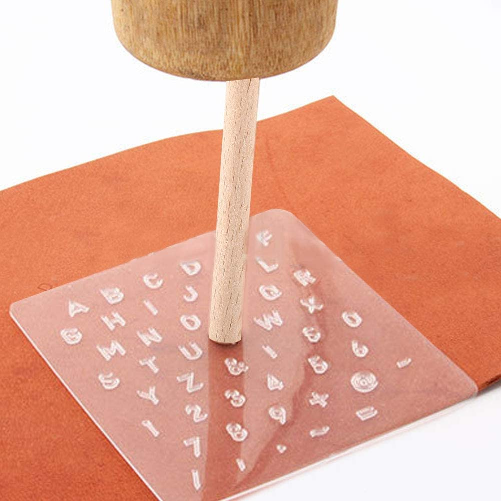Leather Stamping Tools Numeric Character Shape Stamp Punch Set for Leather Embossing Craft DIY Leather Stamper Leather Working