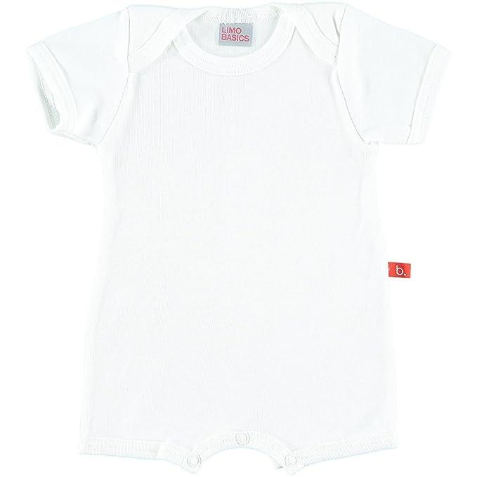 Mono pijama bebé Limobasics (62-68, Blanco)