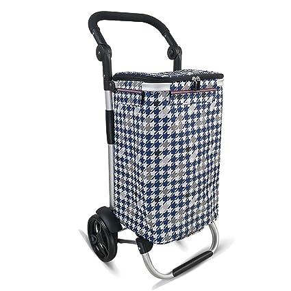 Carretilla De Compras Ligera Plegable, Carro De Mano Carretones De Gran Capacidad Recambios De Aleación