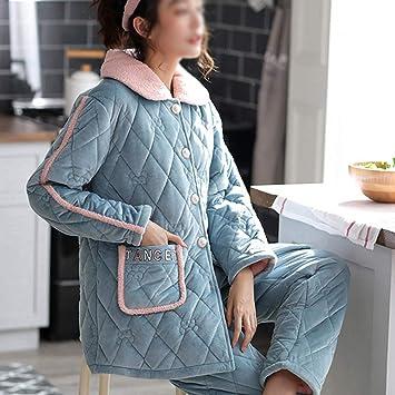 WWF Sra. Pijamas de Invierno Terciopelo de Coral Chaqueta de ...