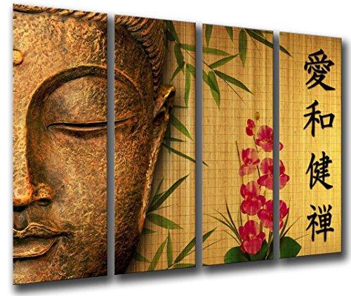 Cuadro Fotografico Buda, Buddha, Relajacion, Zen, Meditacion, Relax Tamano total 131 x 62 cm XXL