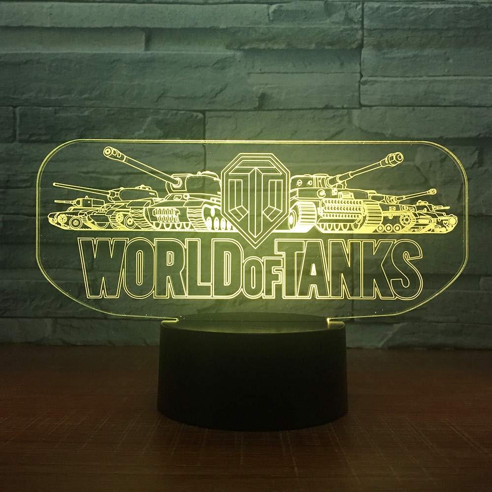 Tank Car Night Light Electronic Slide Light Cambio de Color Touch ...