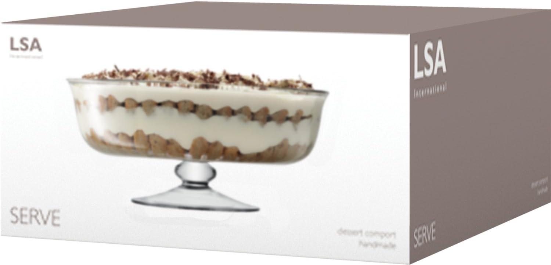 Claire LSA International Serve Dessert Comport Clair 31 cm