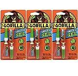 Gorilla Super Glue Gel, 6 g, Clear, (Pack of 3)