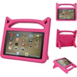 F ir e 7 Case for Kids-Dinines Shock Proof Protective Cover Case for A m a z o n F ir e 7 Tablet (Compatible with 5th Generation 2015/7th Generation 2017) (Pink)