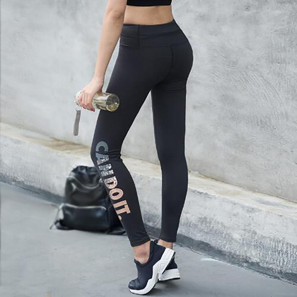 Beautyjourney Femmes Skinny Leggings Haute Taille /éLastique Yoga Fitness Sport Capri Pantalons Leggings Femme