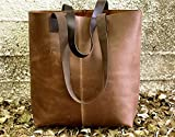 Distressed Brown tote bag Leather shopper sturdy leather handbag Handmade handmade purse