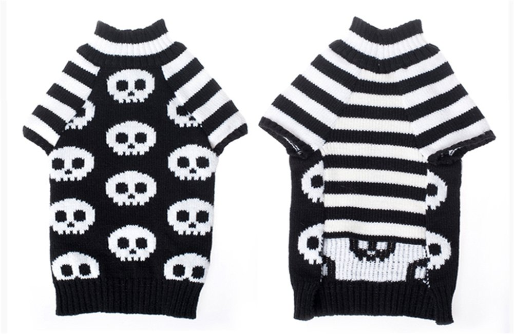 NACOCO Pet Sweaters Skeleton Sweater The Cat Dog Clothes Pet Clothing Little Puppy Dog Sweaters (Small) by NACOCO (Image #4)