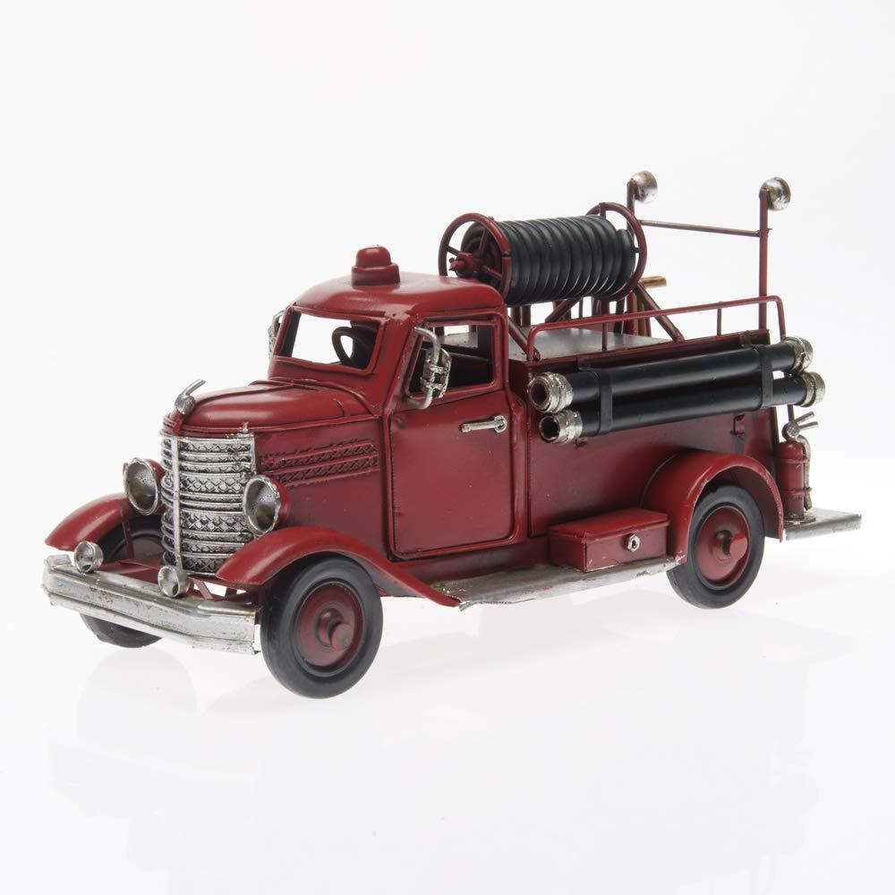 Style r/étro Vintage Antique Longueur Approx Bus /à imp/ériale, Rouge Pamer-Toys Voiture mod/èle en t/ôle 25-35 cm