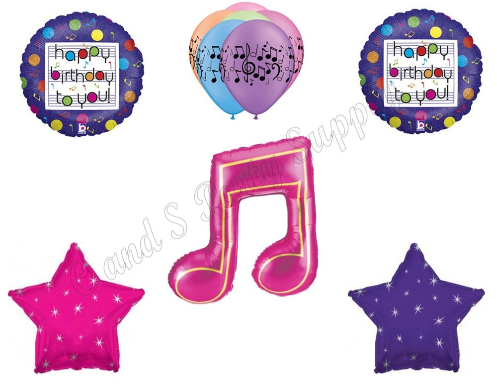 MUSIC NOTE Fresh Beat Band Birthday Party Balloons Decoration Supplies Dance