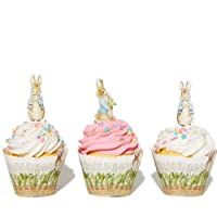 Peter Rabbit Cupcake Topper - Rabbit Birthday Party Supplies - Rabbit Cupcake Decorations - 24 pcs.