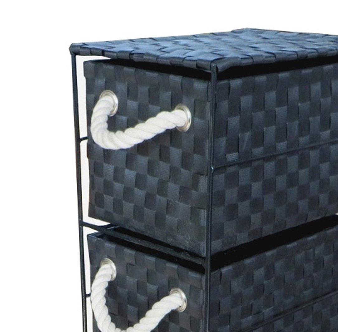 Arpan Black 2-Drawer Storage Unit Ideal For Home//Office//bedrooms 2-Drawer - 18x25x33cm