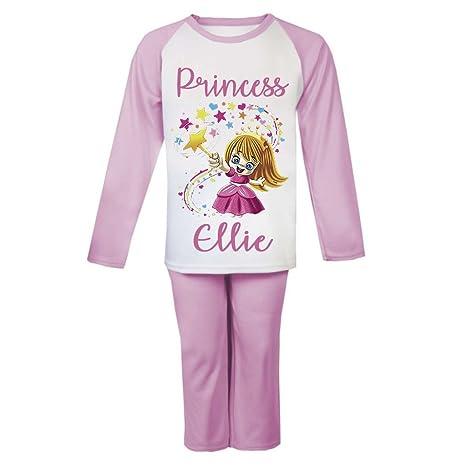 834fadd00 Princesa mago personalizable pijama infantil pijama para niños niñas  personalizado Pjs Niñas Navidad regalos niños rosa
