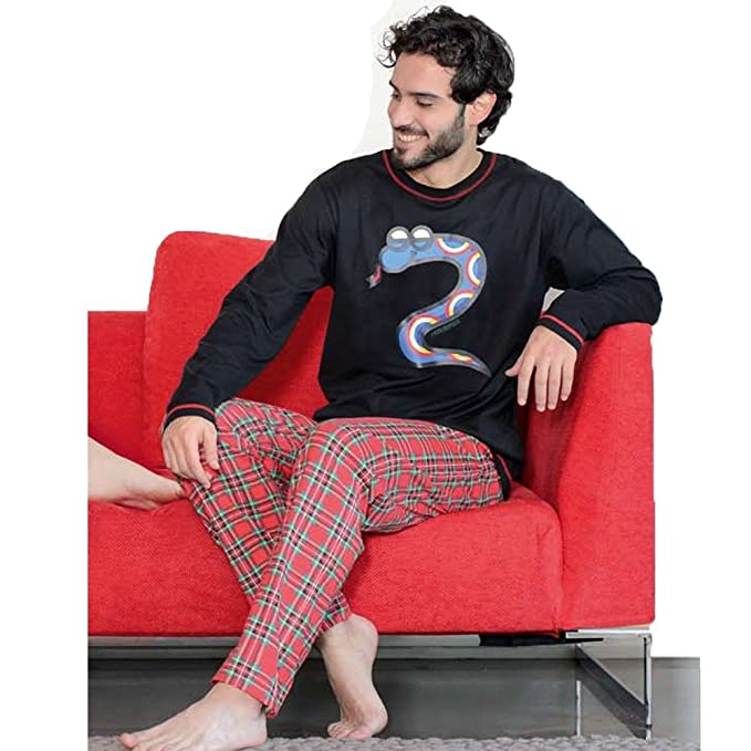 Kukuxumusu - Pijama Hombre Hombre Color: Rojo Talla: S