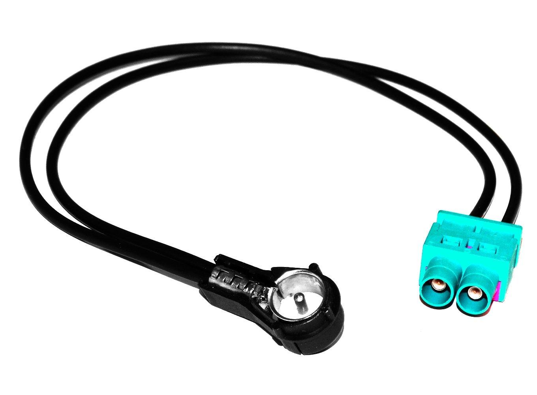 Aerzetix C4547/cavo adattatore di antenna per autoradio Doppio fakra ISO