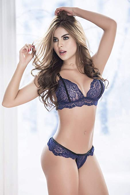 2d44f8eb64e6 Mapalé Sexy Mesh and Lace Underwear for Women 2-Piece Set Ropa Intima De  Mujer at Amazon Women's Clothing store: