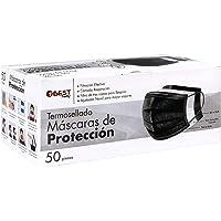 Best Trading 50 Cubrebocas Color Negro, Tapabocas Calidad Premium, Negro Termosellado con 3 Capas de Protección…