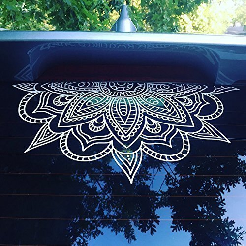 Amazoncom Half Mandala Window Decals Car Decals Wall Decal Vinyl - Window decals amazon