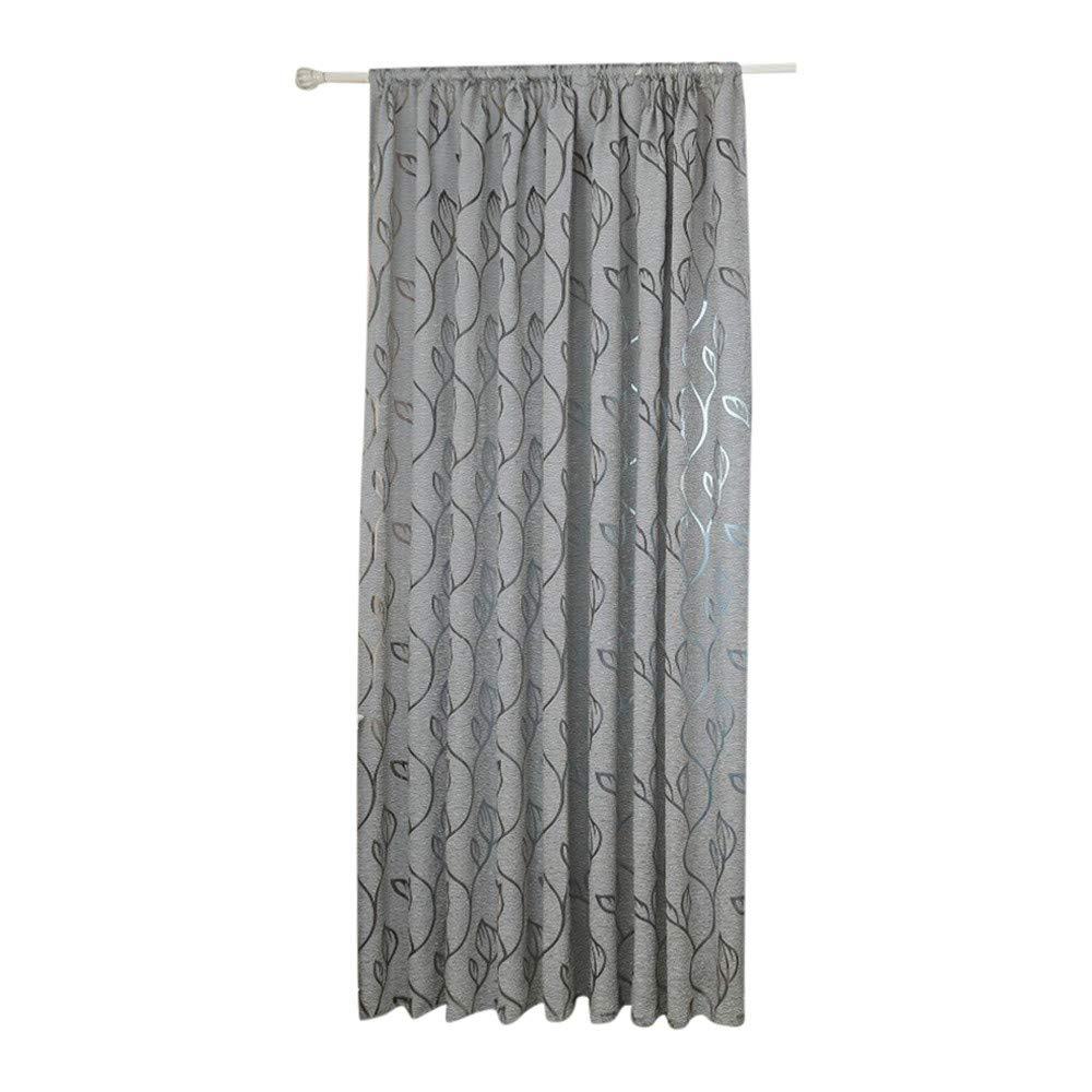 Yucode Flower Printed Rod Pocket Sheer Curtains for Living Room Window Treatment Set,1 Panels, 78 x 39 inch