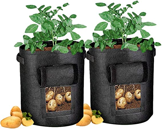 Vegetable Planting Bag Window Growing Bag Potato Cultivation Home Garden Gallons