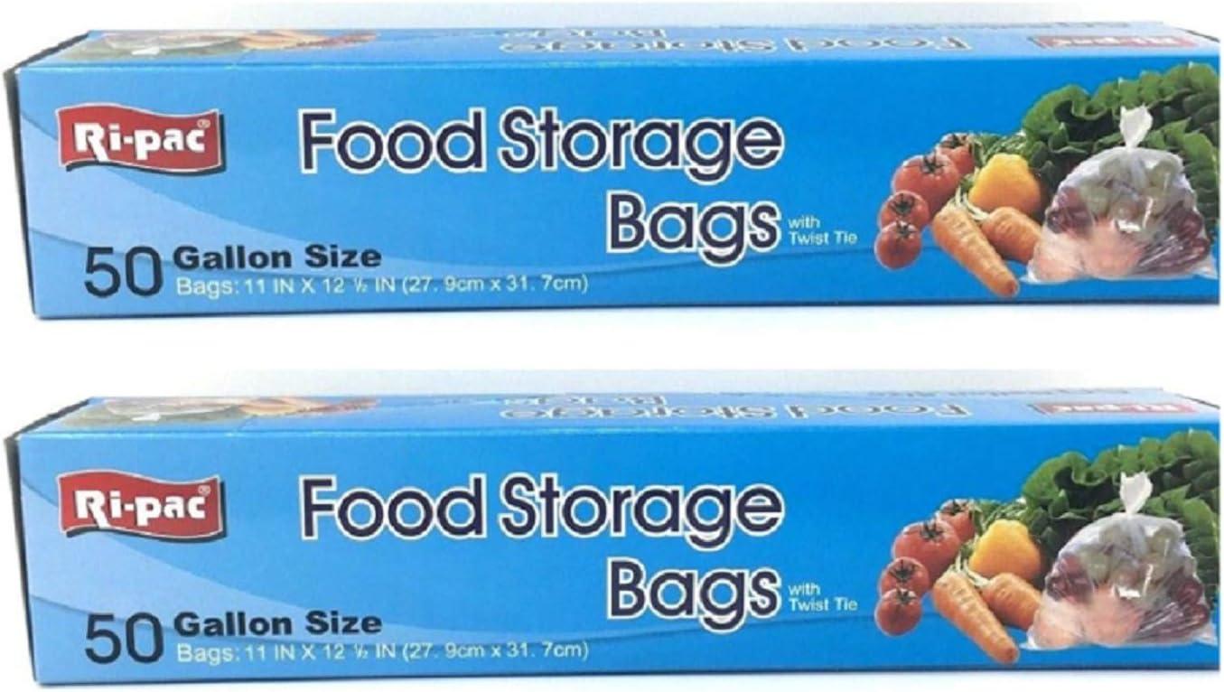 Food Storage Bags with Twist Tie 50 Bags 11