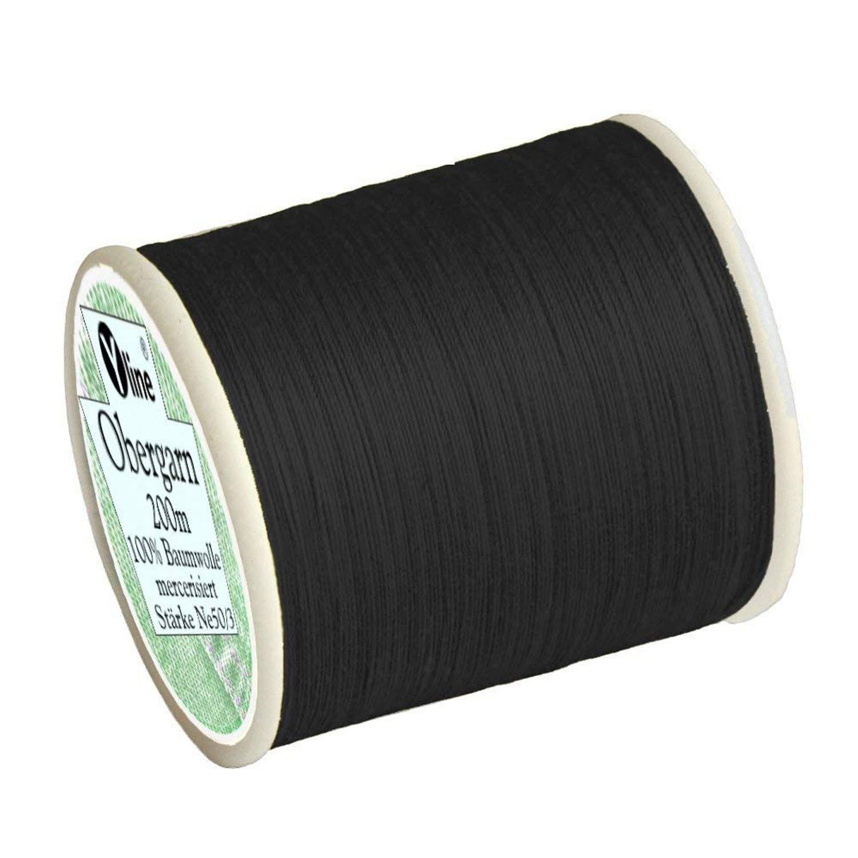 100 % Baumwolle 1000m MEZ Cotton Stärke 50 4667050-09750 schwarz Nähgarn