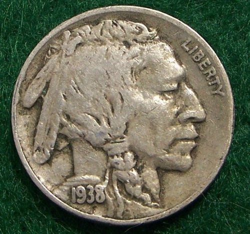 1938-D Buffalo Nickel — Very Fine/Extra Fine Condition