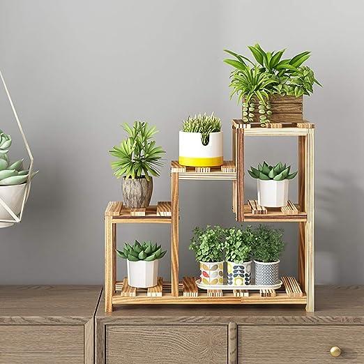 Puesto de plantas Soporte de flores de plantas de madera maciza ...