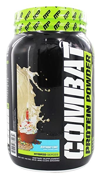 Image Unavailable Not Available For Color MusclePharm Combat Protein Powder Birthday Cake
