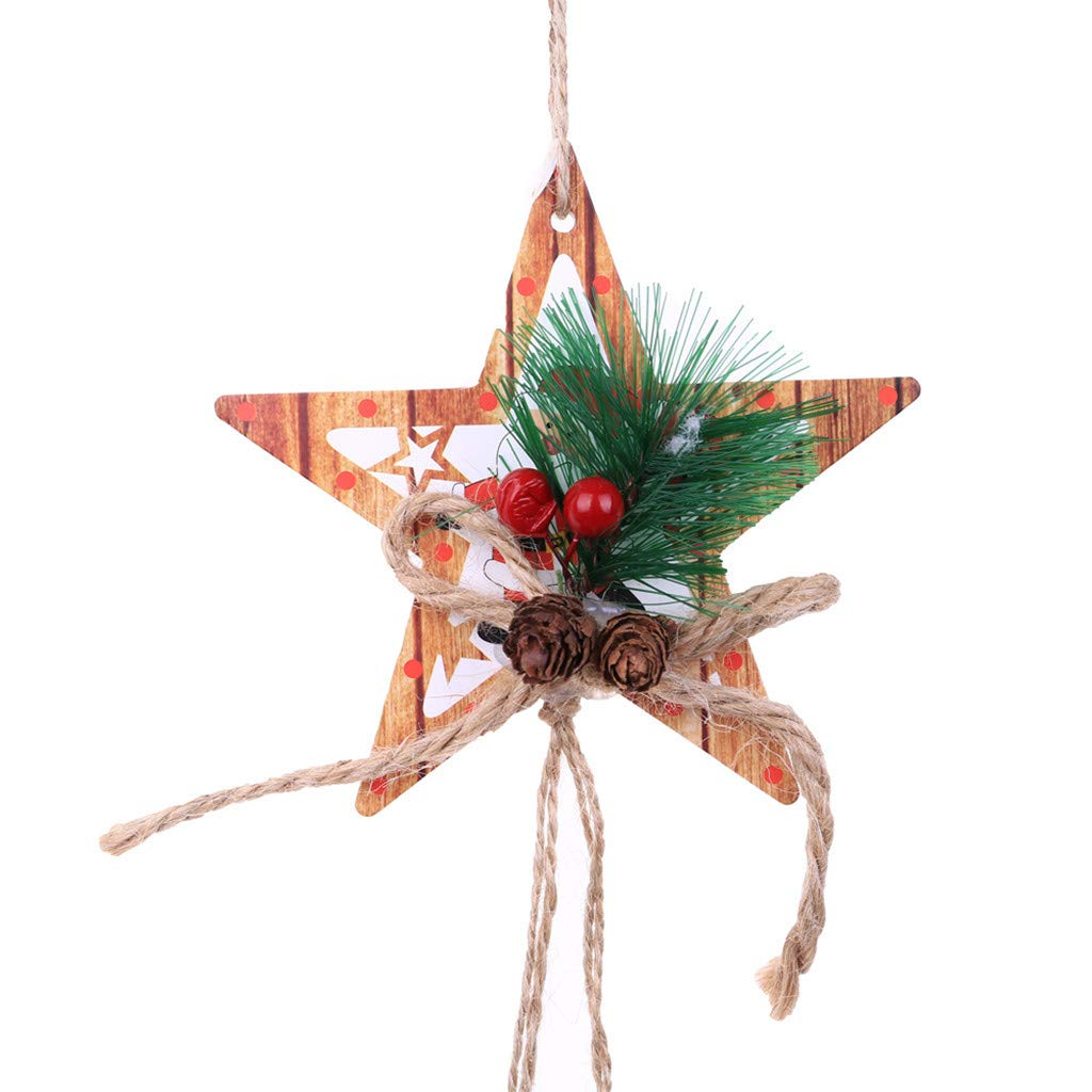 Longay Christmas Decor Gifts Pendant Tree Ornament Party Home Hanging Decoration (B)