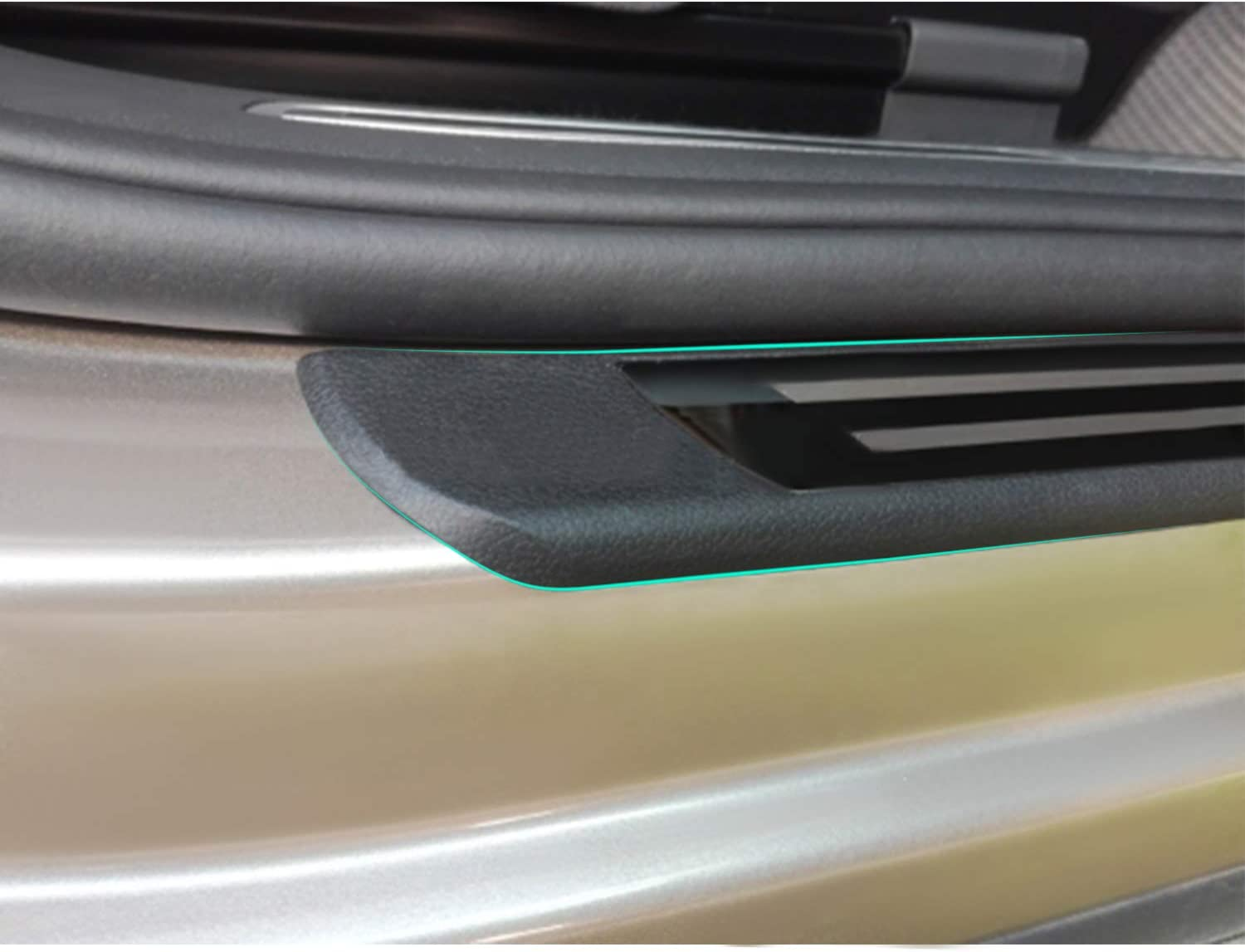 YEE PIN Stainless Steel Door Sill Plate Set for Tiguan 2 2016-2019 Door Sill Pedal Guard Sill Protector Sticker 4 Pieces