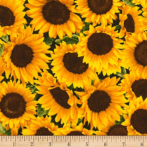 (Timeless Treasures Farm Packed Sunflower Fabric by The Yard )