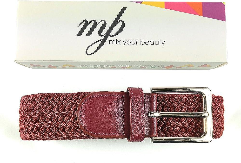 diversi colori e dimensioni MYB Cintura elastica intrecciata per Uomo e Donna